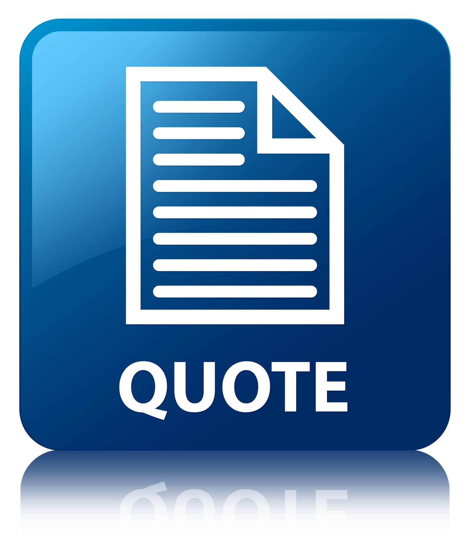 Quote (page icon) blue square button